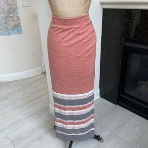 Free People beach skirt maxi stripe slit small